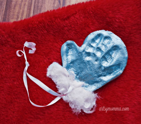 footprint salt dough keepsake simple salt dough mitten ornament keepsake handprint 4496
