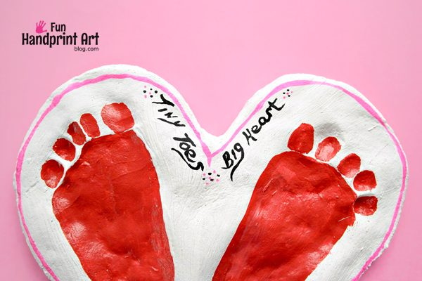 Tiny Toes Big Heart Valentine's Day Saying