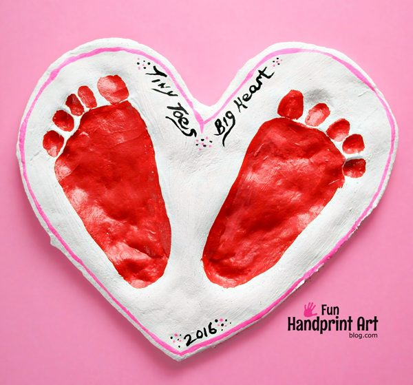super sweet valentine s day salt dough keepsake fun handprint art