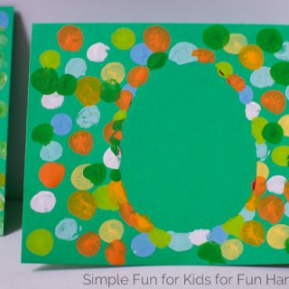 Fingerprint Easter Egg Cards including a Printable Template