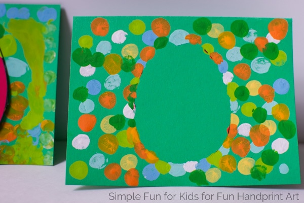 Fingerprint Easter Egg Cards Template Included