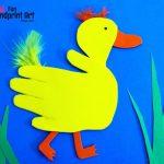 Make a Hand Shaped Duck from Craft Foam! Book Activity