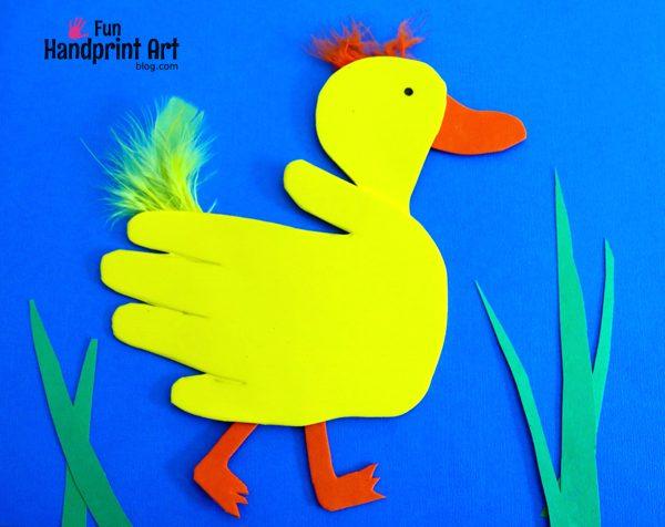 Handprint Duck & Book Craft for Kids