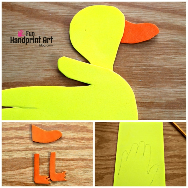 Make a Handprint Duck from Craft Foam