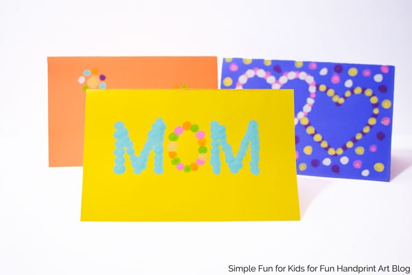 Fingerprint Mother's Day Cards with 3 Printable Templates