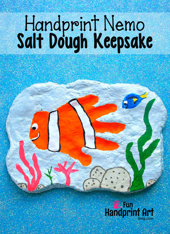 Finding Nemo Handprint Keepsake Plaque - Fun for Father's Day too!