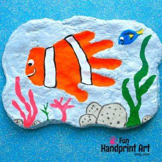 Awesome Nemo Handprint Plaque Tutorial