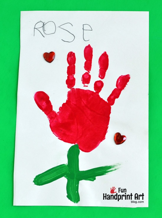Rose Handprint Craft