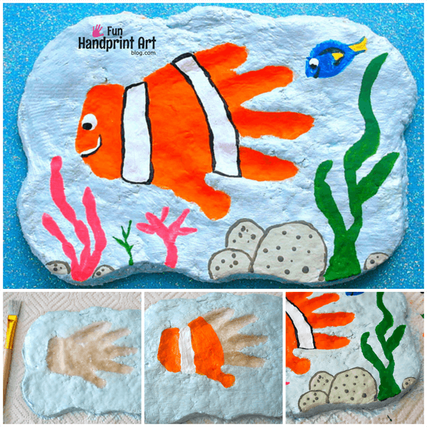 Nemo Handprint Salt Dough Plaque Tutorial