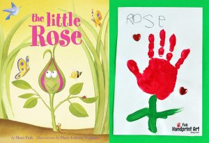 The Little Rose Handprint Craft