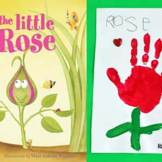 The Little Rose Handprint Craft – Adorable Kids Book!