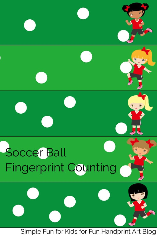 Practice counting 1-20 with fingerprints and a fun soccer theme with this Soccer Ball Fingerprint Counting printable! Your preschooler or kindergartner is going to love it!