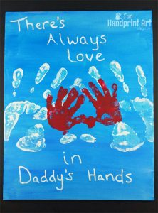 There's Always Love in Daddy's Hand | Handprint Canvas Keepsake for Father's Day