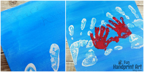 Daddy & Me Handprint Canvas Keepsake - There's Always Love in Daddy's Hands