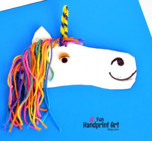 Traced Shoe Unicorn Craft Idea