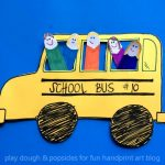 School Bus Craft With 'Finger Cut Out' Kids