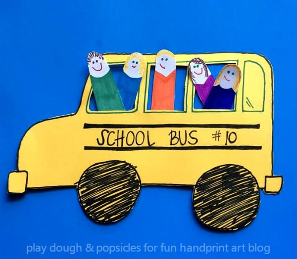 Kids On The Bus: A Finger Cut Out Craft - Back To School Book & Craft Idea for Preschoolers & Kindergartners
