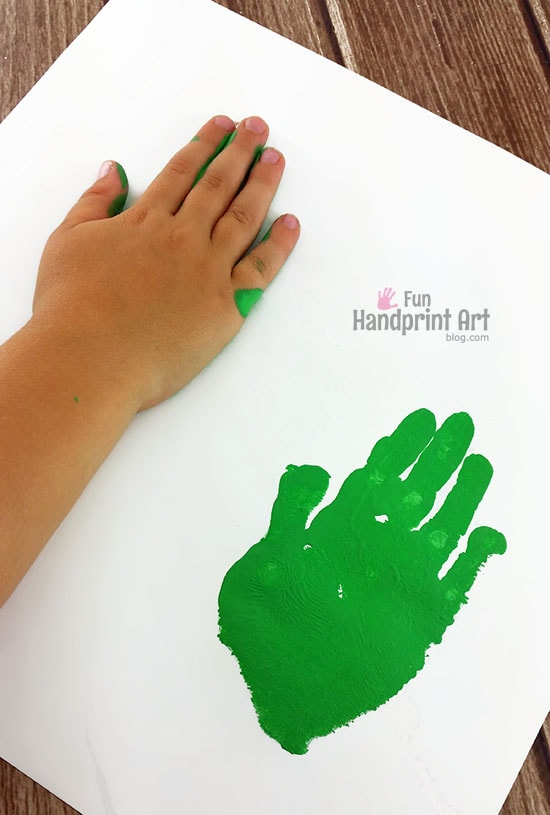 How to make a TMNT Handprint Craft with Kids