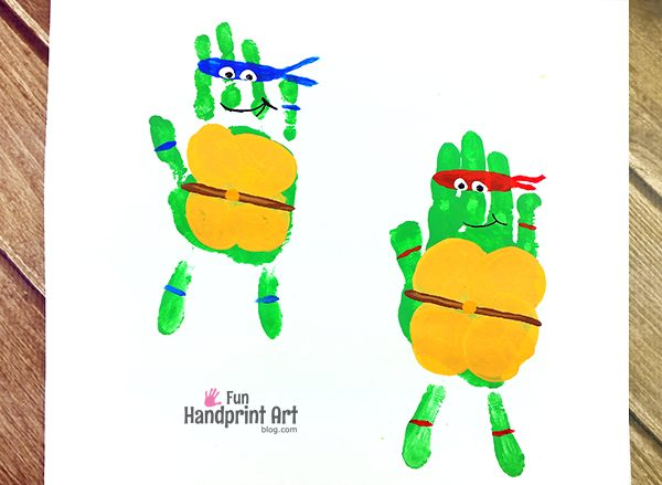 Teenage Mutant Ninja Turtles Handprint Craft for TMNT Fans!