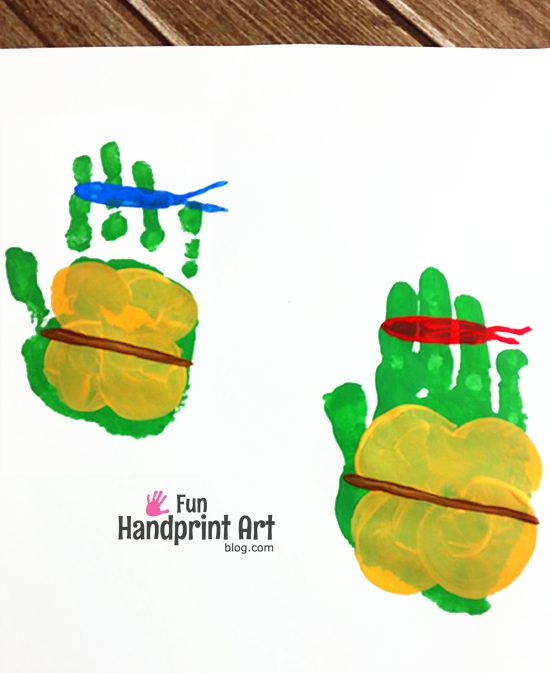 Handprint Teenage Mutant Ninja Turtles - Kids Craft Keepsake