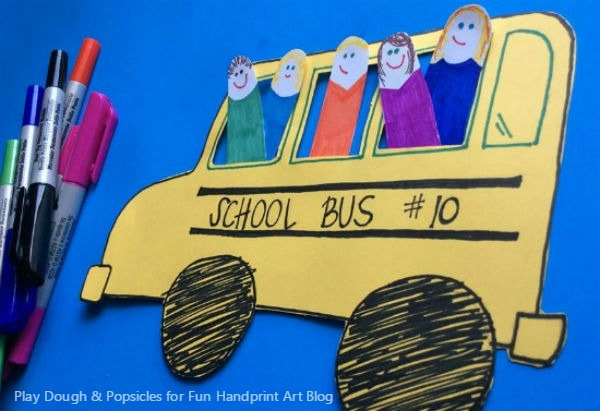 School Bus Craft idea that is interactive - pretend play activity