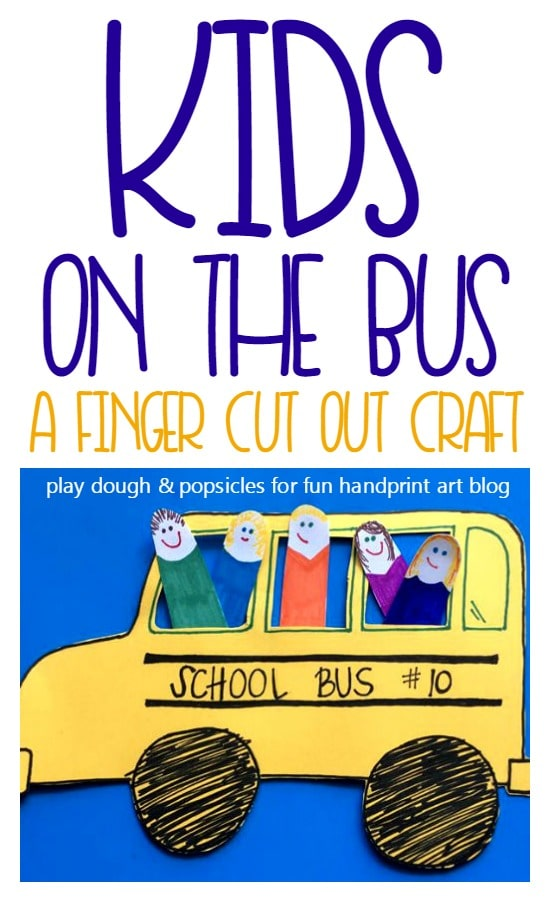 How to make a Kids on the School Bus Craft for pretend play and easing back to school anxieties.