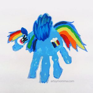 My Little Pony Rainbow Dash Handprint Craft
