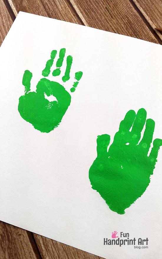 TMNT Handprint Art - birthday party craft idea & activity