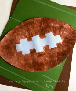 Superbowl and Football Craft for Kids - Fingerprint Tape Resist Art