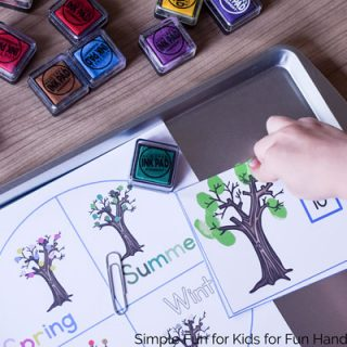 Fingerprint Leaves Counting Game with Seasonal Trees