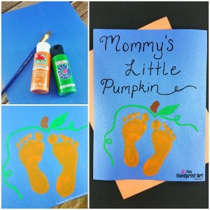 Baby Pumpkin Feet Print Art Keepsake