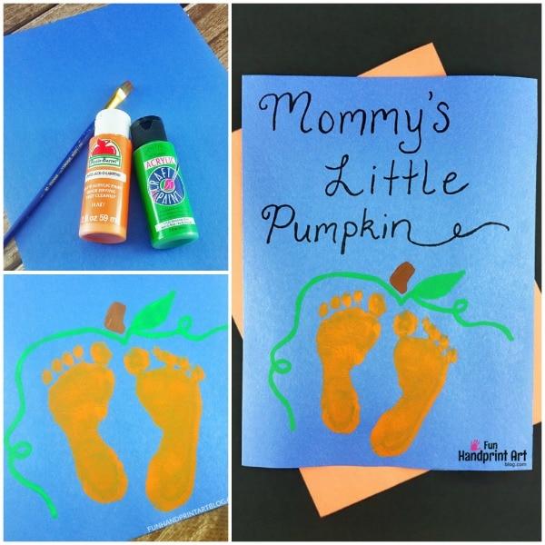 Baby Pumpkin Feet Print Art Keepsake