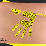 Handprint Cheetah Craft for Kids