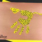 Handprint Cheetah Craft for Kids
