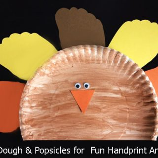 Fun Paper Plate Turkey Craft with Footprint Feathers