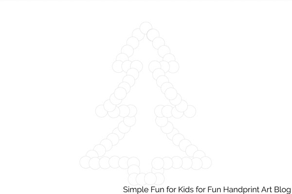 Christmas Tree Templates for Fingerprint Art