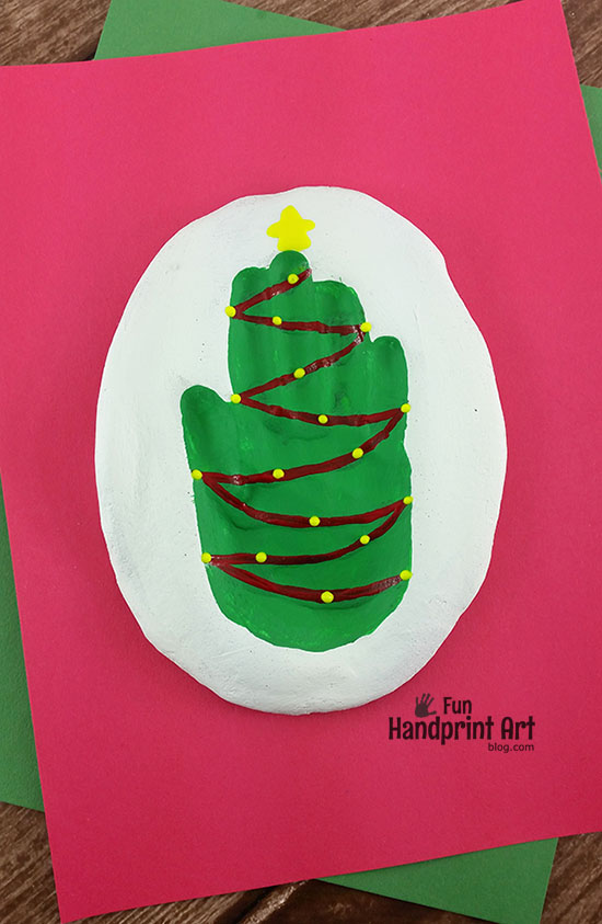 Christmas Tree Salt Dough Hand Impression Keepsake