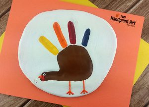 Salt Dough Turkey Hand Impression - DIY Thanksgiving Keepsake Idea