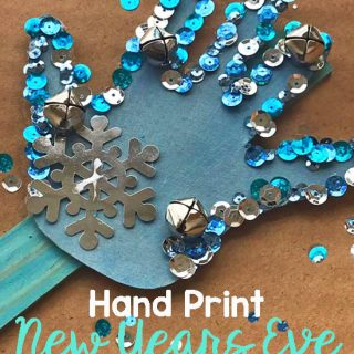 Sparkly HANDmade New Year's Eve Noise Maker Craft