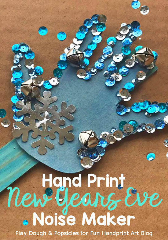 This fun HANDmade New Year's Eve Noisemaker craft is the perfect way for little ones to ring in the new year with style!