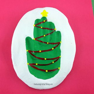 Festive Salt Dough Christmas Tree Hand Impression Keepsake