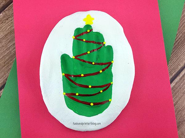 Make a festive Christmas Tree Salt Dough Keepsake using your child's handprint!