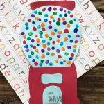 Colorful 100th Day Of School Craft: Fingerprint Gumball Machine