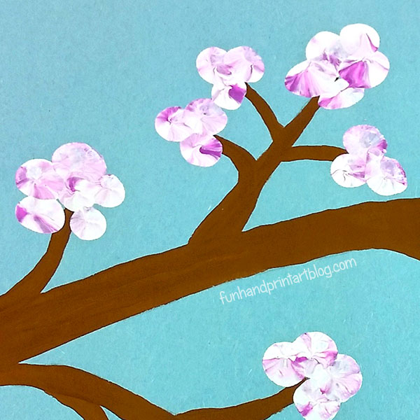 Learn About Japanese Culture with Kids - Make a Cherry Blossom Branch Craft