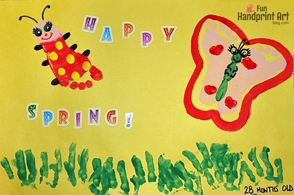 Darling Butterfly and Ladybug Footprint Craft