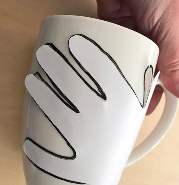"""Hands Off Mom's Coffee"" Hand Made Mother's Day Coffee Mug"