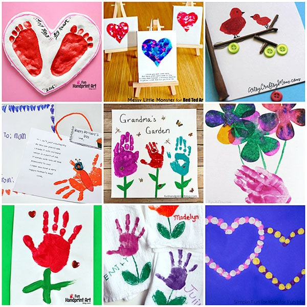 Mother's Day Handprint & Footprint Gift Ideas