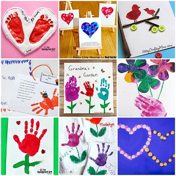 Mother's Day Handprint & Footprint Gift Ideas