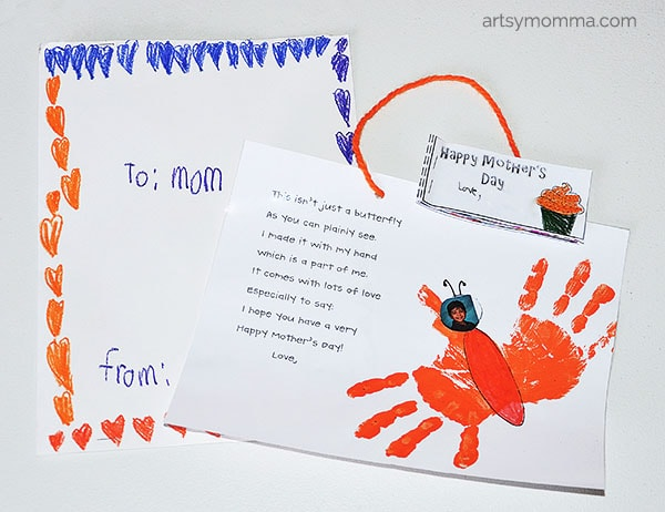 Kindergarten Mother's Day Poem & Handprint Butterfly Craft