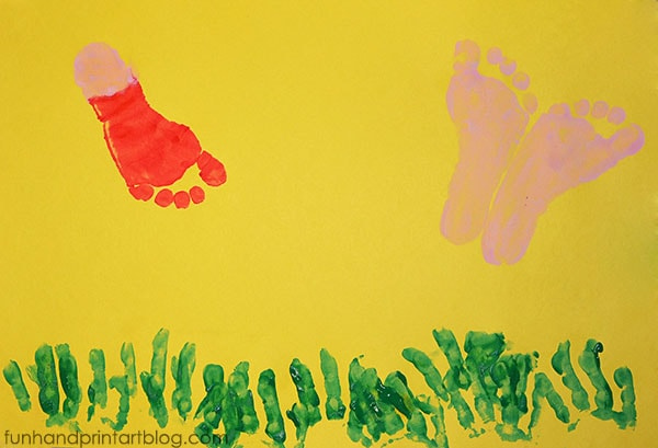 Footprint Bug Craft Ideas for Spring Theme